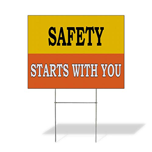Plastic Weatherproof Yard Sign Safety Starts with You Awareness Blue Safety strats Within You for Sale Sign Multiple Quantities Available 18inx12in One Side Print One Sign (Best Strat For Blues)