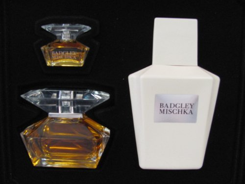 Badgley Mischka By Badgley Mischka for Women 3 Piece Set: 1.7 Oz EDP Spray + 6.8 Oz Body Lotion + .24 Oz EDP Miniature by Badgley Mischka - Edp Spray Miniature