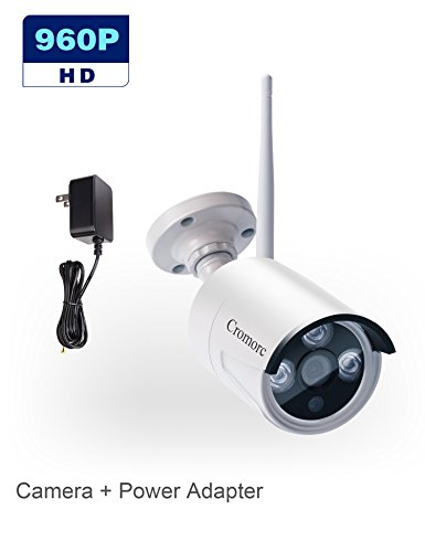 Cromorc 960P Surveillance Bullet Camera Waterproof Outdoor Indoor 3.6mm Lens IR Cut Day&Night Vision with 5DB Antenna with Bracket with Power Adapter