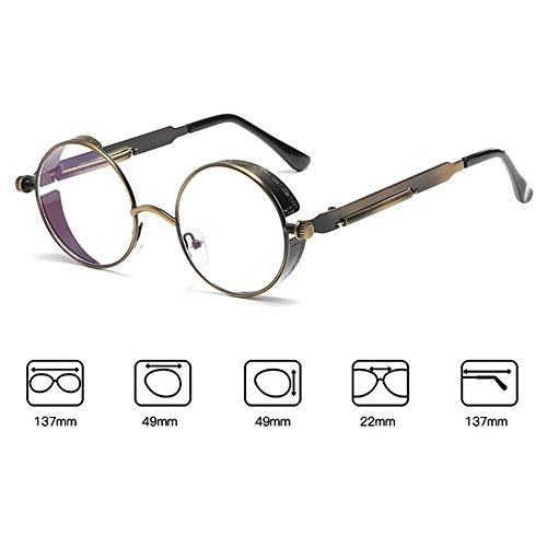 gafas espejo metal C16 redondo Steampunk de Juleya de mujeres para vintage UV400 sol gótico hombres retro gafas xa06PTnwq6
