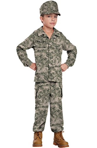 [8eighteen Military Combat Soldier Child Costume] (Zombie Soldier Costumes)