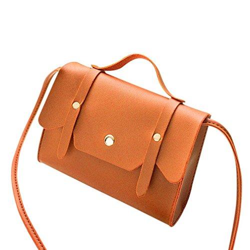 Gusspower Bag Women Shoulder Bag Messenger Bag Style Leather Purse Vintage (red) Brown