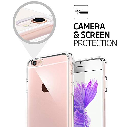 TENOC Case Compatible for Apple iPhone 6 and iPhone 6S 4.7 Inch, Crystal Clear Soft TPU Cover Full Protective Bumper by TENOC (Image #4)