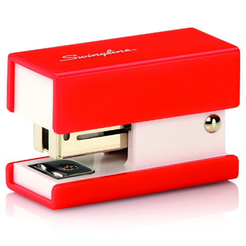 Swingline Mini Fashion Stapler 12 Sheets Red (S7087873) (Large Image)
