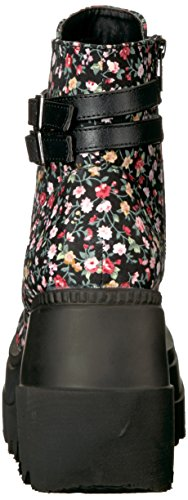 Demonia Womens Shaker-52st Bottine Tissu Floral De La Cheville