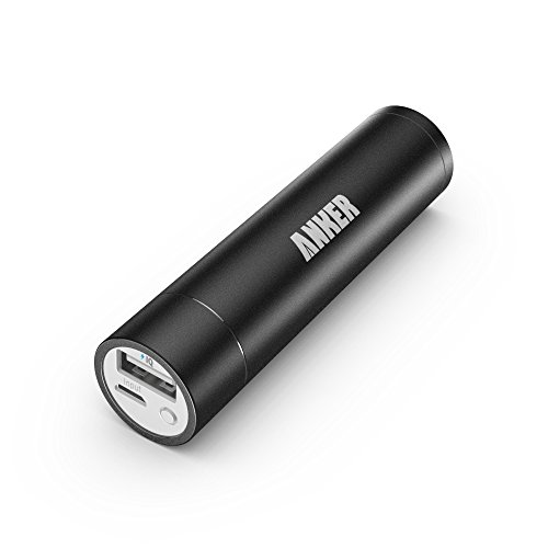 Anker 2nd Gen Astro Mini 3200mAh Lipstick-Sized Portable Charger External Battery Power Bank with PowerIQ Technology for iPhone 6 Plus 5S 5C 5 4S iPad Air 2 Mini 3 Samsung Galaxy S6 S5 S4 Note Tab Nexus HTC Motorola Nokia PS Vita Gopro more Ph...
