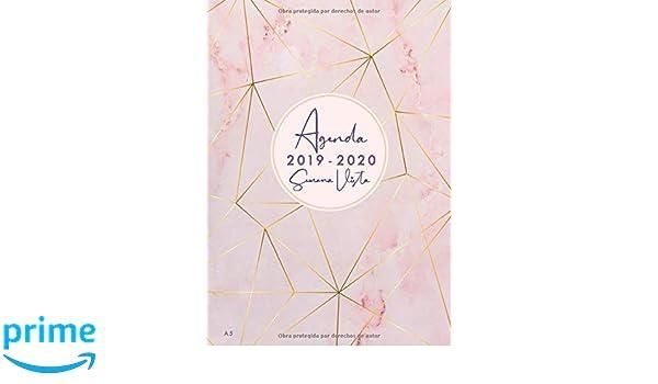 Agenda 2019 2020 Semana Vista A5: Agenda y cuaderno 18 meses ...