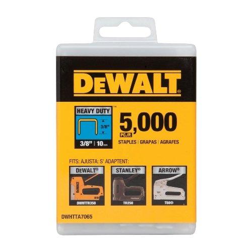 076174702408 - DEWALT DWHTTA7065 Heavy Duty Narrow Crown Staples 3/8 Inch Crown carousel main 0
