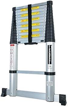 worhan® 4.4 m aire absenkungs Tecnología. Escalera telescópica aluminio escalera de aluminio telescópica (aluminio escalera aluminio escalera telescópica multifunción Escalera 440 cm 1 K4.4 (a + Air Line): Amazon.es: Bricolaje y herramientas