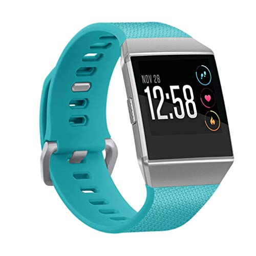 For Fitbit Watch Bands Accessories,AutumnFall Sport Silicone Watch Band Wrist Strap for Fitbit Ionic,Small Size (Green)