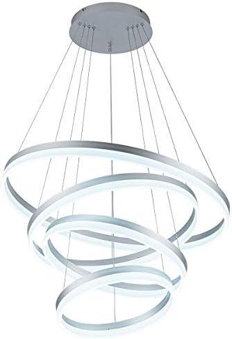 LED Modern Chandelier 4-Rings Circular Pendant Light Flush Mount Pendant Lighting