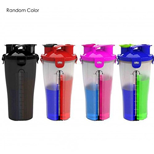 Jannyshop Dual Threat Shaker Bottle for Taking Protein Powder(30oz, Random Color)