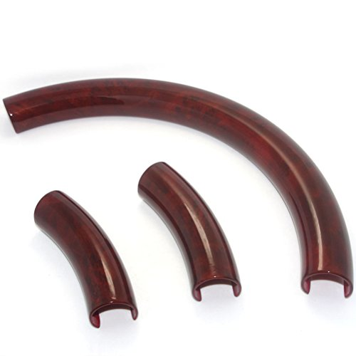 Pursuestar Unique Brown Wood Steering Wheel Cover Decor Trim Compatible for BMW E30 E36 E38 E39 E46 E53 E60 E61 E70 E81 E87 E90 E92 Honda Jeep 38-41cm