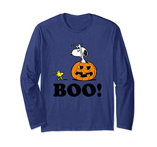 Peanuts Halloween Snoopy Woodstock BOO! Long Sleeve T-Shirt -