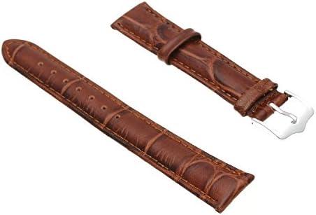 Monland 18㎜ブラウンPUレザーストラップの腕時計新しいファッション
