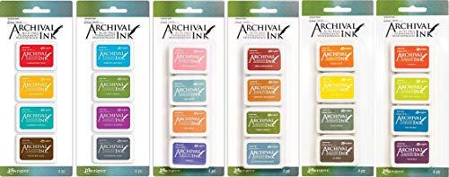 Wendy Vecchi Mini Archival Ink Pads Sets #1 - #6 - Six Item Bundle