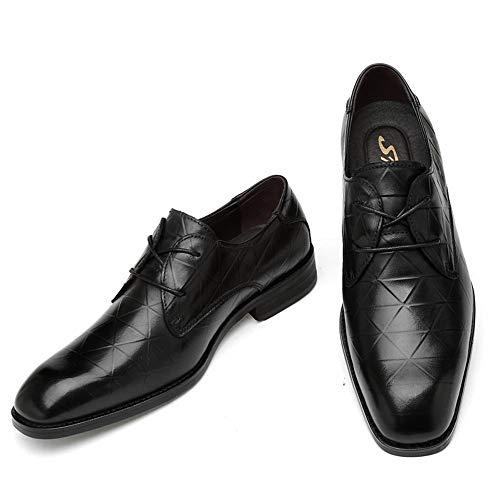 Black 46 Metal Jusheng Ocasional Zapatos Color para Hebilla Ocasional Tie Ocasional de Formal Oxford Negro Hombre de Oxford tamaño EU Uz4xUawq