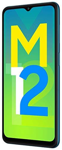 Samsung Galaxy M12 (Blue,4GB RAM, 64GB Storage) 6000 mAh with 8nm Processor | True 48 MP Quad Camera | 90Hz Refresh Rate 2021 August 48MP+5MP+2MP+2MP Quad camera setup- True 48MP (F 2.0) main camera + 5MP (F2.2) Ultra wide camera+ 2MP (F2.4) depth camera + 2MP (2.4) Macro Camera| 8MP (F2.2) front camera 16.55 centimeters (6.5-inch) HD+ TFT LCD - infinity v-cut display,90Hz screen refresh rate, HD+ resolution with 720 x 1600 pixels resolution, 269 PPI with 16M colours Memory, Storage & SIM: 4GB RAM | 64GB internal memory expandable up to 1TB| Dual SIM (nano+nano) dual-standby (4G+4G)