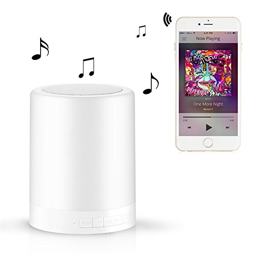 ATC Bedside Touch Senor Speaker LED Emotional Night Light,Support TF Card Player Wireless Bluetooth Speakers Mood Desk lamp