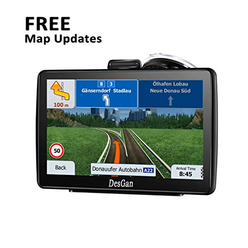 GPS Navigation for Car, DesGan 7 Inch 8G car GPS Satellite Navigation, with Free Lifetime Map Update, Real Voice Turn-by-Turn Direction Reminding Navigation Systems for Car