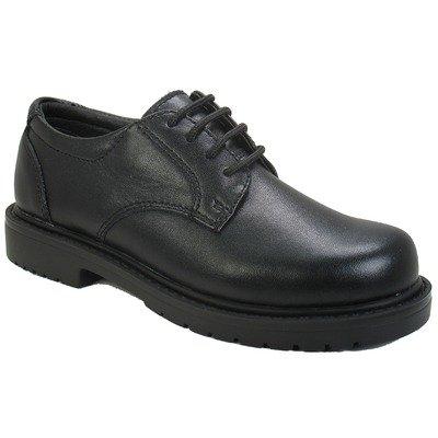 Willits Boys' Scholar School Shoes,Black Full Grain Leather,6 W