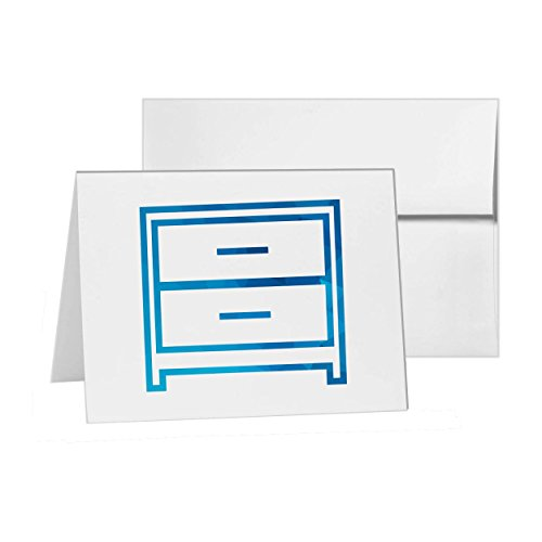 Of Xv Style Drawers Chest (Drawers Chest Of Commode Dresser, Blank Card Invitation Pack, 15 cards at 4x6, Blank with White Envelopes Style 9475)