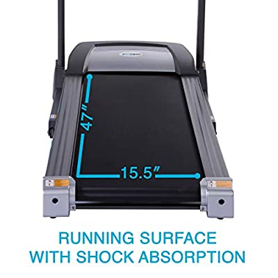EFITMENT Auto Incline Bluetooth Electric Treadmill Machine w/Speakers & Folding for Running, Jogging, Walking, 220 LB Max Weight, LCD & Pulse Monitor, Ipad/Tablet Holder - T012