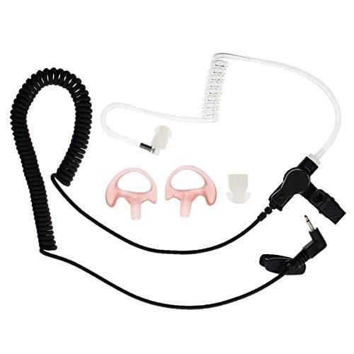 AUTOKAY New 2.5mm Earpiece Headset with Coiled Tube for Harris Police Radio XG25 XG75 P7300 Motorola Kenwood ()