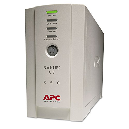 Office Realm APC BK350 BK350 Back-UPS CS Battery Backup System, 6 Outlets, 350 VA, 1020 J