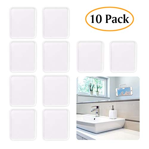 (ZC GEL Universal Sticky Pads, Removable and Reusable Non Slip Mat Cell Phone Holder for Car Dashboard Office House Glass Mirrors Anywhere, Clear Anti Slip Pads 10 Pcs )