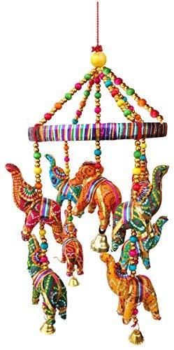 - Rastogi Handicrafts Handmade Elephant Wall Roof Hanging Decorative Ornament Christmas Diwali Party Wedding Decorative Hanging