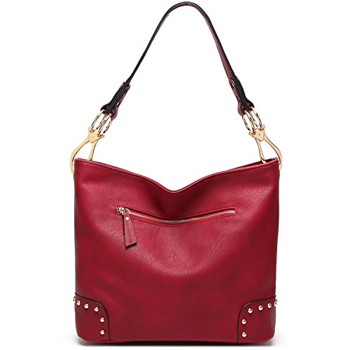 Shoulder Handbags TcIFE Bags Women Satchel Red Tote for 2 Purses and ZZfYq