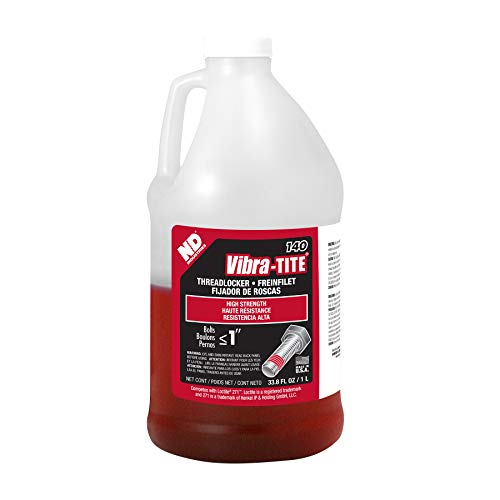 Vibra-TITE 140 Permanent High Strength Anaerobic Threadlocker, 1 liter Jug, Red