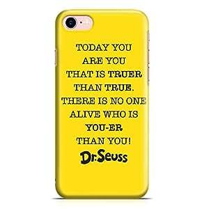 Loud Universe True Quote Wisdom Dr Seuss iPhone 8 Case Classic Cartoon iPhone 8 Cover with 3d Wrap around Edges