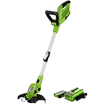 Best Partner Cordless String Trimmer Edger,10-Inch Lithium Ion String Trimmer,18-Volt,Battery and Charger Included