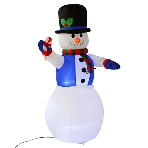 Cheapest Price! Tangkula 5.3 Ft Airblown Inflatable Christmas Xmas Snowman Decor Lighted Lawn Yard O...