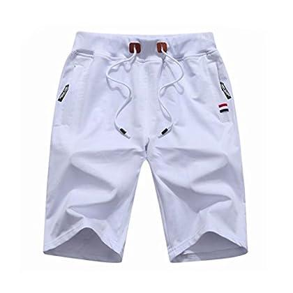 Amoystyle Men's Cotton Jogger Workout Shorts