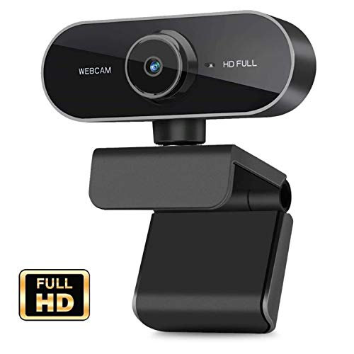 Webcam with Microphone,Intpw 1080P HD Desktop Streaming Webcam -Wide Angle USB Computer Camera for Mac Skype OBS, Laptop Web Camera for Video Calling Gaming Recording Conferencing