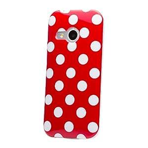 iCues  HTC One Mini 2 - M8 Mini Funda   Punto TPU Case   rojo   Carcasa Bolsa Cover Bumper