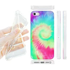 7872860M38830052 Head Case Designs Helicoid Tie Dye Gel Back Case Cover for Apple iPhone 5 5s