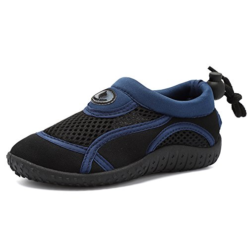 CIOR Toddler Water Shoes Aqua Shoe Swimming Pool Beach Sports Quick Drying Athletic Shoes for Girls and Boys,U118SHSX004,Dark Navy,28 -