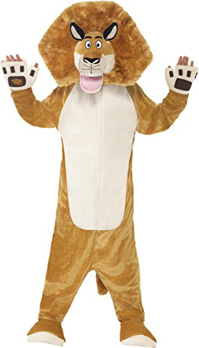 Madagascar Costumes (Smiffy's Children's Madagascar Alex The Lion Costume, All-in-one Jumpsuit &)