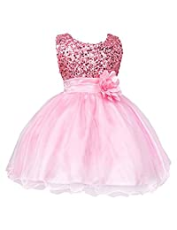 XWDA Baby Girls' Flower Sequins Tulle Dress