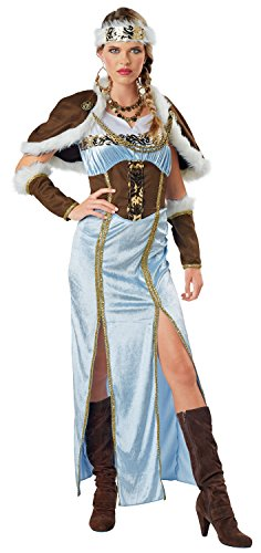 Viking Princess Costume, Medium (Ice Queen Halloween Outfit)