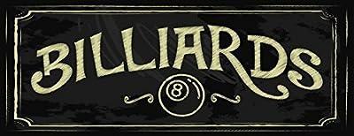 Billiards Decorative Metal Sign