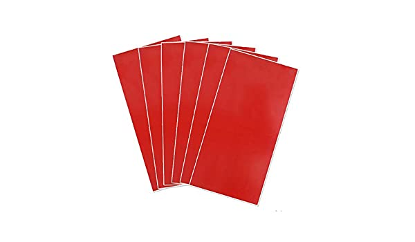 """Red//Bright White 12 x 24/"""" x .060/"""" Red//Bright White Xlnt Engraving Double Color Sheet 12 x 24/"""" x .060/"""", 6 Pieces Badges for Interior Signs"""
