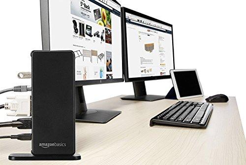 AmazonBasics USB 3.0 Universal Laptop Docking Station by AmazonBasics (Image #1)