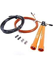 Ryher Speed Rope Springtouw voor Fitness - Springtouw voor Boksen, Crossfit, Double-Unders, Vetverbranding - Springtouw - Voor thuis- en sportschooltraining - Gratis extra kabel