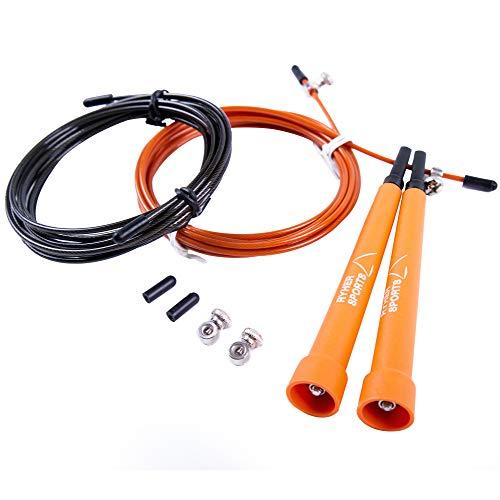 Ryher Speed Rope Springtouw voor Fitness – Springtouw voor Boksen, Crossfit, Double-Unders, Vetverbranding – Springtouw…
