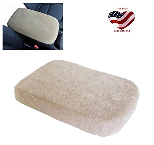 Car Console Covers Plus Made in USA Fleece Center Armrest Console Cover fits Subaru Outback Models 2015-2019 (O1) Light Tan